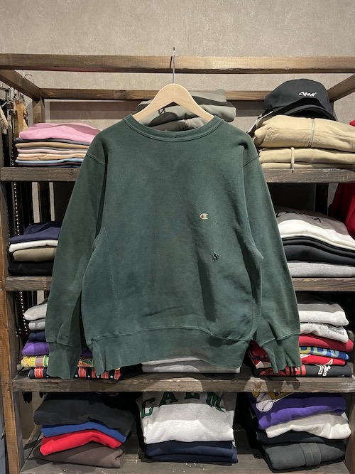「used」90's~ Champion REVERSE WEAVE Sweat Over Dye(F)