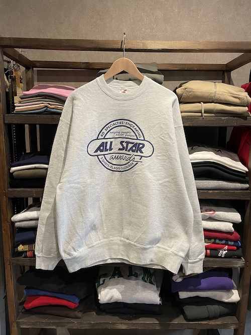 「used」90's USA製 FRUIT OF THE LOOM Sweat ALL Star awards INC(XL)