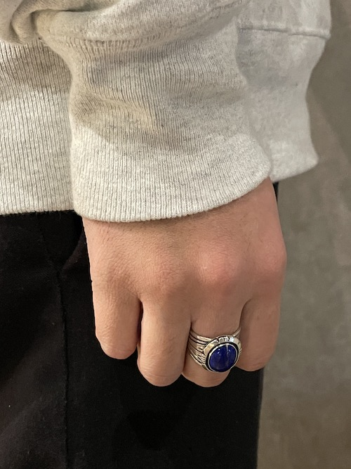 「Indian Jewelry」Cooper Willie Lapis Lazuli Ring(20.5号)